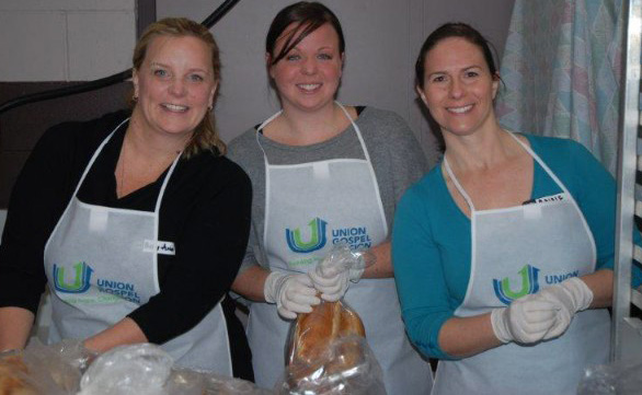 Grandview Corners serves food at Union Gospel Mission