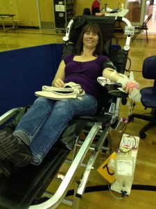 Staff at Grandview Corners Dental and Wellness Centre donating blood