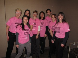 Our office participated in Pink Shirt Day — because nobody likes a bully!